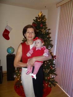 Lauren e vovó Cília